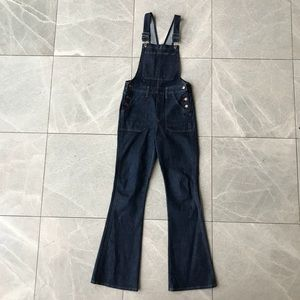 Preowned Madewell Denim Overalls Bootcut Flare